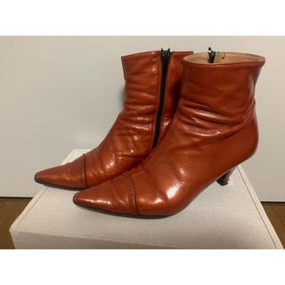 エナメル ショートブーツ(ブーツ)