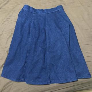 ビームス(BEAMS)のBEAMS ひざ丈デニムスカート(ひざ丈スカート)