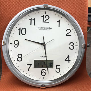 カシオ(CASIO)のカシオ 電波 掛け時計 直径34cm(掛時計/柱時計)