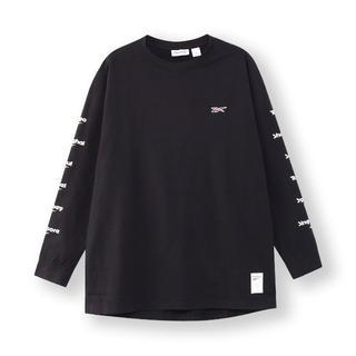 リーボック(Reebok)の【新品】Reebok ロングスリーブTシャツ 黒 Lサイズ ベクター(Tシャツ/カットソー(七分/長袖))