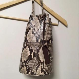 DEUXIEME CLASSE - MARCO MASI 巾着BAG パイソン バッグ