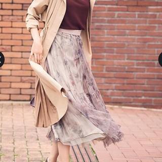 ジャスグリッティー(JUSGLITTY)の新品 チュールプリーツスカート(ロングスカート)
