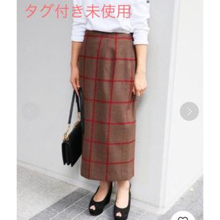 IENA - IENA チェックカラータイトスカート