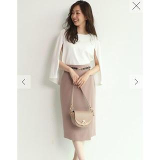 ジャスグリッティー(JUSGLITTY)の新品タグ付き 巻き風ベルト付タイトスカート(ひざ丈スカート)