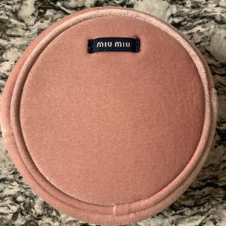 miumiu - miumiu ノベルティー ポーチ ベルベット ベロア ピンク