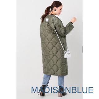 MADISONBLUE - 【MADISONBLUEマディソンブルー】 キルティングノーカラーコート/カーキ