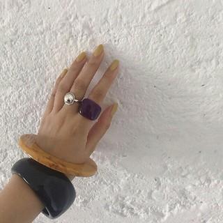 トゥデイフル(TODAYFUL)の【新品】'09AW完売TODAYFUL アクリルボリュームリング指輪アクセサリー(リング(指輪))