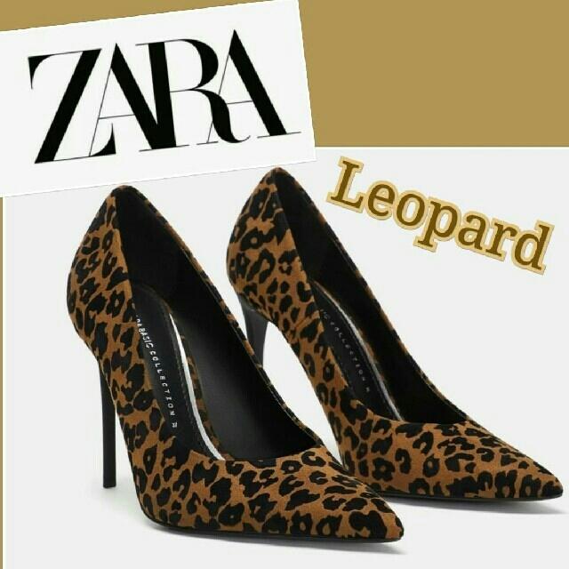 ZARA(ザラ)の完全新品 セール ZARA シューズ あまりの細見え美脚 セレブ愛用レオパード柄 レディースの靴/シューズ(ハイヒール/パンプス)の商品写真