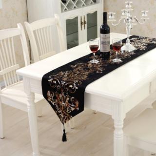 テーブルランナー ブラック 黒 32*180 テーブルクロス