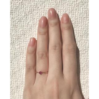 サマンサタバサ(Samantha Thavasa)のサマンサ ティアラ  K18金 ピンクゴールド ハートルビーリング(リング(指輪))