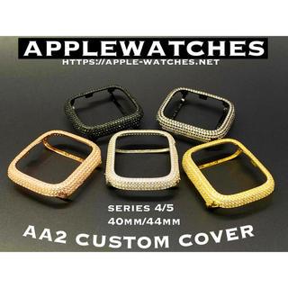 アップルウォッチ(Apple Watch)のアップルウォッチ用カスタムカバーベゼルシリーズ4シリーズ5色から■超高品質(腕時計)