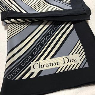 クリスチャンディオール(Christian Dior)の新品未使用!Diorディオール ラグジュアリーロゴスカーフ(バンダナ/スカーフ)