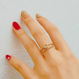 お値下げ 0.372ct ペアシェイプ ダイヤモンドリング(リング(指輪))