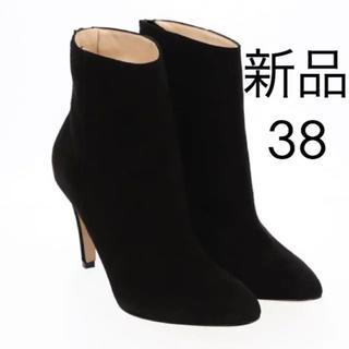 ファビオルスコーニ(FABIO RUSCONI)の【新品】バックジップショートブーツ 38(ブーツ)