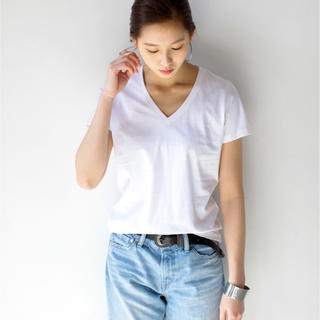 AZUL by moussy - AZUL by moussy オーガニックコットン Tシャツ