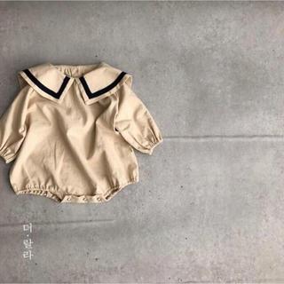 韓国 セーラーロンパース 80 90 100
