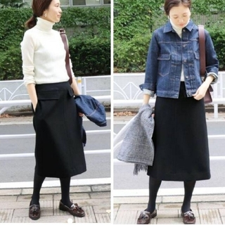 IENA SLOBE - SLOBE IENA  【新品未使用】JSメルトンAラインスカート