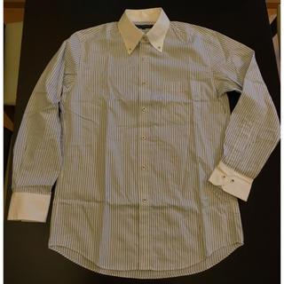 UNIQLO - ユニクロUNIQLO 長袖シャツ ストライプYシャツ ビジネス メンズ M超美品