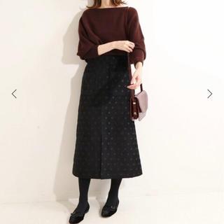 IENA - 【IENA】IENA LA BOUCLE モールジャガード Aラインスカート