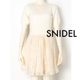 スナイデル(snidel)のSNIDEL フロッキーコンビニットワンピース(セット/コーデ)