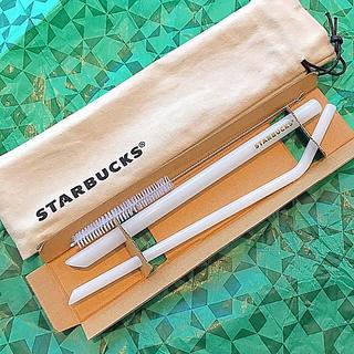 スターバックスコーヒー(Starbucks Coffee)のスターバックス 台湾 ホリデー 2019 ガラスストローセット(収納/キッチン雑貨)