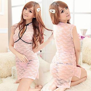 甘めピンクのシースルーチャイナドレス(その他ドレス)