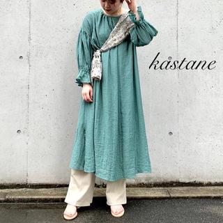 Kastane - 新品❁カスタネ 変形楊柳ボリュームワンピース