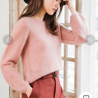 アナイ(ANAYI)のアナイ モヘア アンゴラ ニット ピンク 長袖 美品(ニット/セーター)