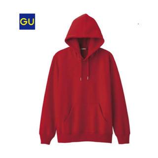 GU - パーカー 赤