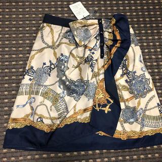 アプワイザーリッシェ(Apuweiser-riche)のスカーフ柄 ミニスカート(ミニスカート)