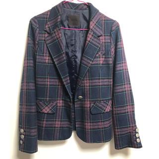 ムルーア(MURUA)の値下げコメントで1,700円❗️MURUA✳︎チェックジャケット(テーラードジャケット)