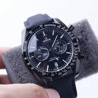 OMEGA - 黒文字盤 動作品 クロノグラフ 自動巻き メンズ腕時計