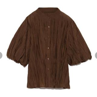 Lily Brown - 袖ボリューム半袖シャツ