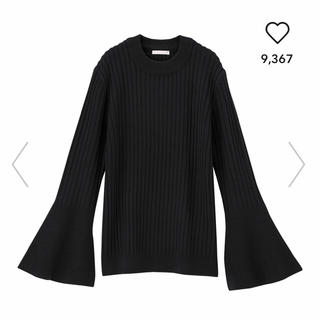 GU - 【GU】フレアスリーブタイトセーター 七分袖 Lサイズ