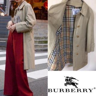 BURBERRY - 90's Burberry バーバリー ステンカラーコート トレンチコート