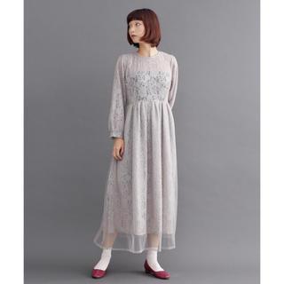 メルロー(merlot)の新作 merlot plus 総レースチュールレイヤード ドレス ワンピース(ロングドレス)