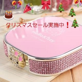 ハローキティ(ハローキティ)の可愛い ハローキティ モバイル 大容量 バッテリー / 充電器  ピンク(バッテリー/充電器)