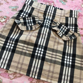 evelyn - evelyn  2017a/w チェック柄 バーバリー柄 フリルポケットスカート