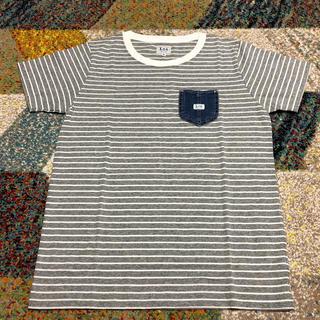 リー(Lee)のLee デニムポケット付 Tシャツ/グレー(Tシャツ(半袖/袖なし))