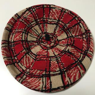 Vivienne Westwood - Vivienne Westwood ベレー帽 レッド ベージュ チェック