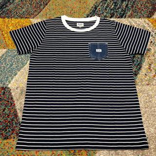 リー(Lee)のLee デニムポケット付 Tシャツ/紺色(Tシャツ(半袖/袖なし))