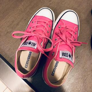 CONVERSE - ピンク コンバース 23センチ