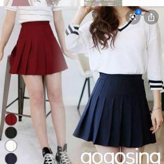 GOGOSING - gogosing ミニプリーツスカート 黒