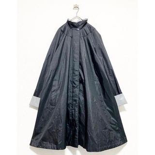 COMME des GARCONS - vintage ヴィンテージ 変形 ブラック 黒 スタンドカラー ロングコート