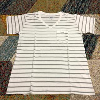 リー(Lee)のLee ボーダー柄 VネックTシャツ(Tシャツ(半袖/袖なし))