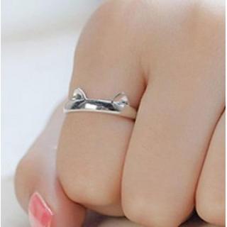 猫耳 肉球 リング 指輪 14-19号☆光沢タイプ(リング(指輪))