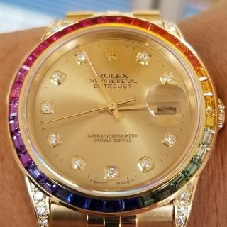 ロレックス(ROLEX)の週末限定40万値引き決行 ロレックス デイトジャスト レインボー K18YG(腕時計(アナログ))