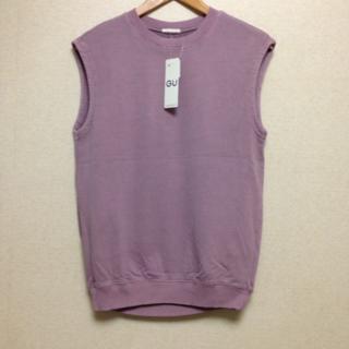 ジーユー(GU)のGU/ジーユー☆オーバーサイズウッシュドT XSサイズ パープル くすみピンク(Tシャツ(半袖/袖なし))
