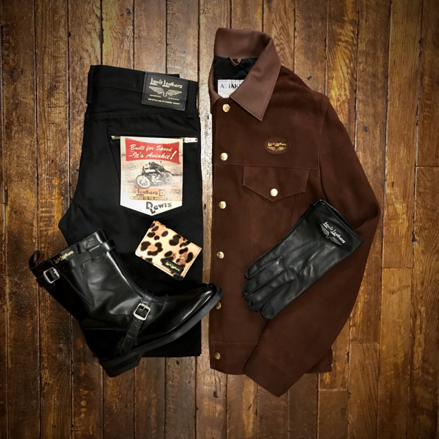 Lewis Leathers(ルイスレザー)のレア lewis leathers スエード ジャケット メンズのジャケット/アウター(ライダースジャケット)の商品写真