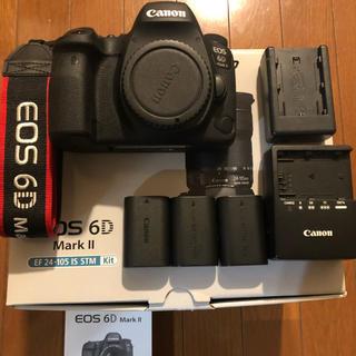 Canon - キャノン canon EOS 6d mark2 バッテリー3本付き☆ 美品